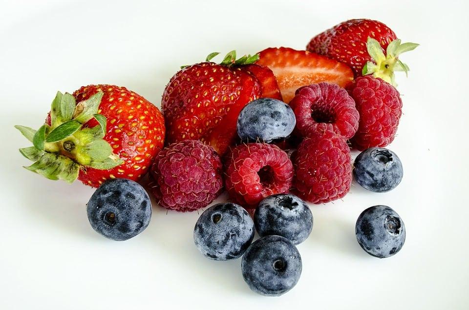 Frutas con baja carga de azúcar